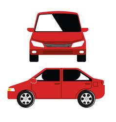 Car vehicle flont icon vector