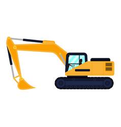 Cartoon building machine excavator vector