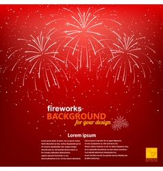 christmas background with a picture fireworks vector image