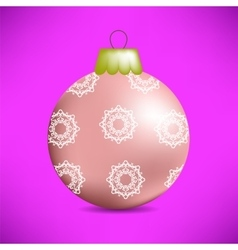 Christmas Pink Glass Ball vector