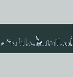 cleveland single line skyline vector image