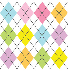 Colorful and trendy baby argyle seamless pattern vector