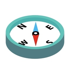 Compass 3d isometric icon vector image