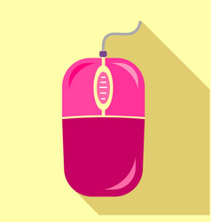 computer mouse icon flat style vector image