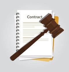 Contract law concept legal regulation judicial vector