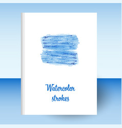 Cover diary or notebook hardcover - format a4 blue vector