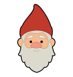 Cute gnome head character vector