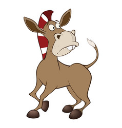 Cute little burro cartoon vector