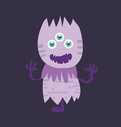 cute monster cartoon character 006 vector image