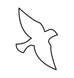 dove silhpuette isolated icon vector image