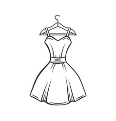 dress hanger outline vector image