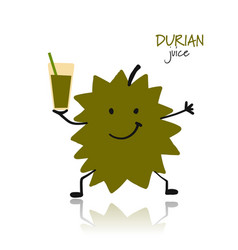 Durian funny character for your design vector