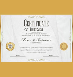 elegant certificate or diploma retro vintage vector image
