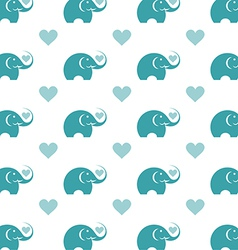 Elephant wallpaper vector image