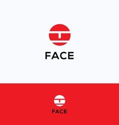 Face logo vector image