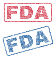Fda textile stamps vector