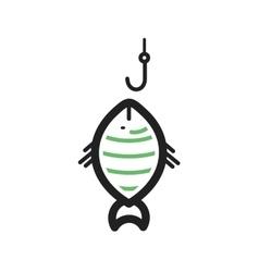 Fish Caught vector image