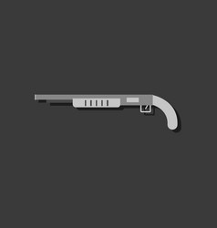 Flat icon design collection military shotgun in vector