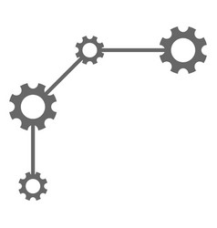 Gear links flat icon symbol vector