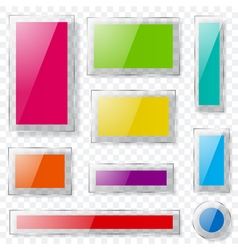 Glass plates of different colors vector