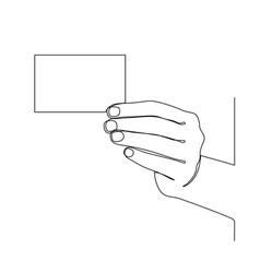 hand holding paper isolated on white vector image