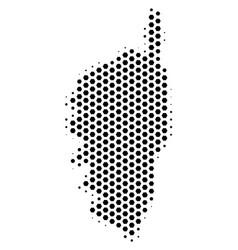 Hexagon corsica france island map vector