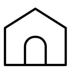 Home page line icon house isolated vector