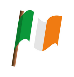 ireland country flag isolated icon vector image