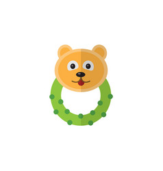 Isolated bear beanbag flat icon rattle vector
