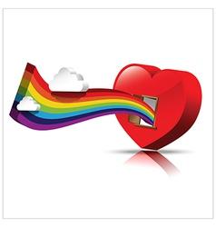 Just open heart happy valentine day 002 vector