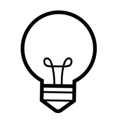 light buld idea cartoon vector image