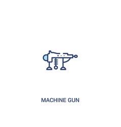 Machine gun concept 2 colored icon simple line vector