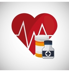 Medical care design Health care icon Flat vector image