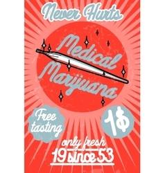 Medical marijuana banner vector image