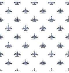 military airplane pattern vector image