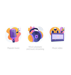 Music media production concept metaphors vector