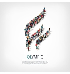 olympic people 3d vector image