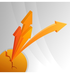 Orange abstract arrows vector