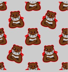 Otter angry face mad animals indignantbeaver vector