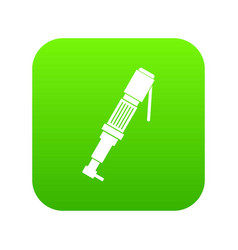 Pneumatic screwdriver icon digital green vector
