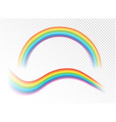 realistic rainbows vector image