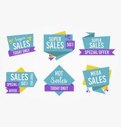 sales tag label set vector image