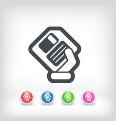saving data icon vector image