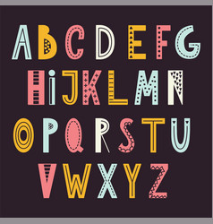 scandinavian abstract alphabet typography poster vector image