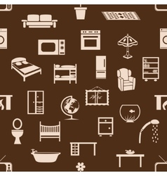 seamless home equipment pattern vector image