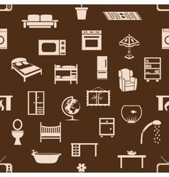 Seamless home equipment pattern vector