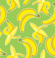 seamless pattern background with bright ban vector image