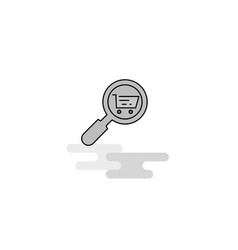 search goods online web icon flat line filled vector image