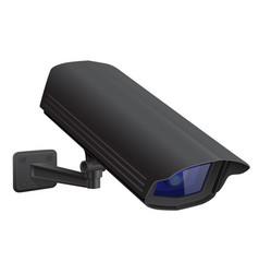 security camera black cctv surveillance system vector image
