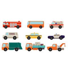 set flat style service cars vector image